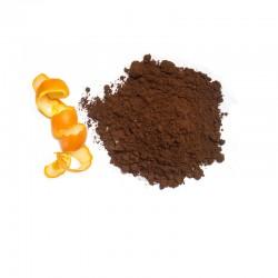 Turkish coffee with orange peel powder