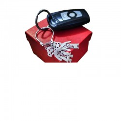 Personalized silver keyring