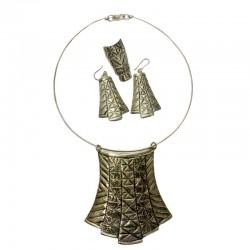 Egyptian style silver set