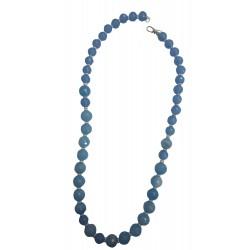 Colier pierre bleu & argent