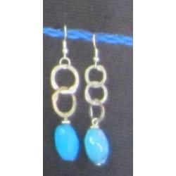Earrings Rayhana and turquoise stones