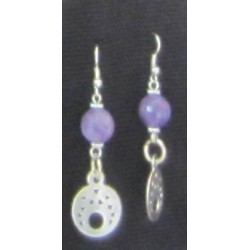 Earring Silver and purple stone