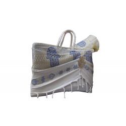 Couffin khomssa bleu & tapis