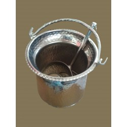 Hammam bucket with copper...