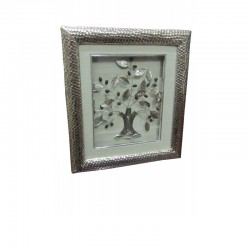 Silver olive wall frame